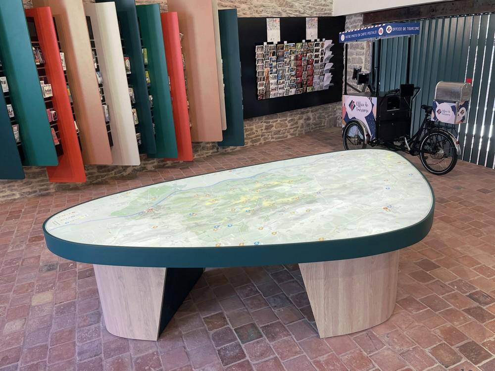 Table rétro-éclairée